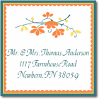 Name Doodles - Square Address Labels/Stickers (Chelsea Orange)